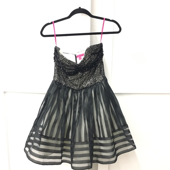 Betsey Johnson Vntg Ldb Sequin Strapless Dress | Poshmark